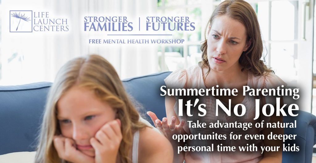 anxiety depression counseling Summertime Parenting Workshop